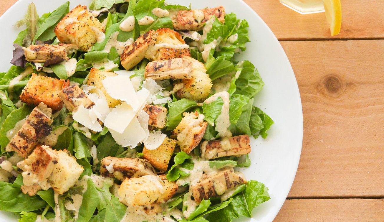 Caesar Salad with Ariston Garlic Infused Olive Oil & Lemon Balsamic